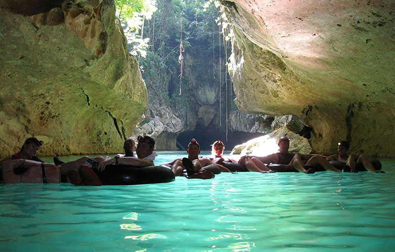 Belize Cave Tubing